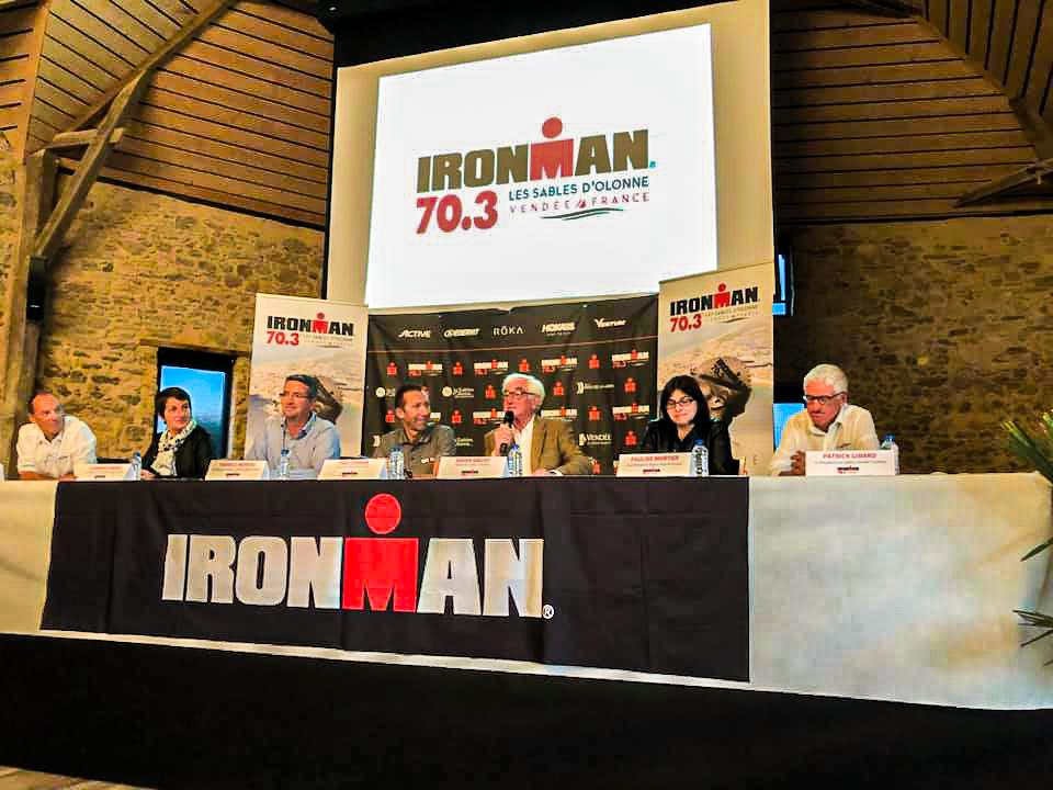 Conférence de prese Ironman aux Sables d'Olonne